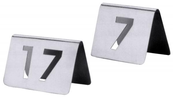 Tischnummern , Paket mit Nummern von 61 bis 72