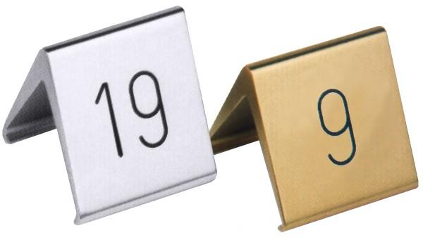 Tischnummern , goldfarbig