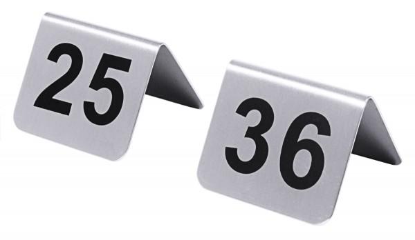 Tischnummern mit Nummern 25 bis 36