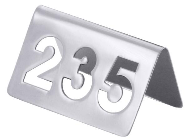 Aus dem Nummernkreis von 100 bis 250 einzelne Tischnummern