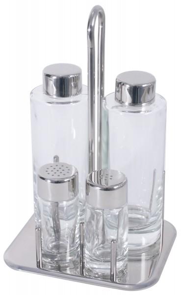 Menage Salz/Pfeffer, Essig/Öl 21,5 cm