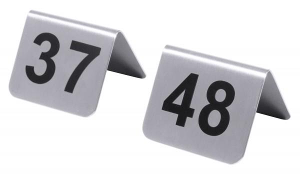 Tischnummern mit Nummern 37 bis 48