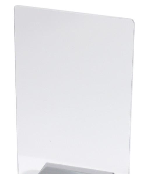 Kartenhülle aus klarem PVC passend zu Kartenhalter