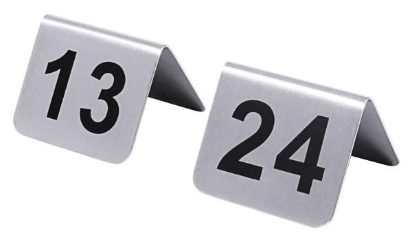 Tischnummern mit Nummern 13 bis 24