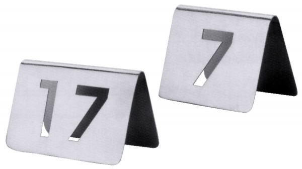 Tischnummern , Paket mit Nummern von 37 bis 48
