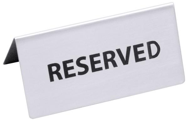 Reserviert-Aufsteller mit englischem Text: RESERVED
